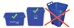 Blue bin sizes