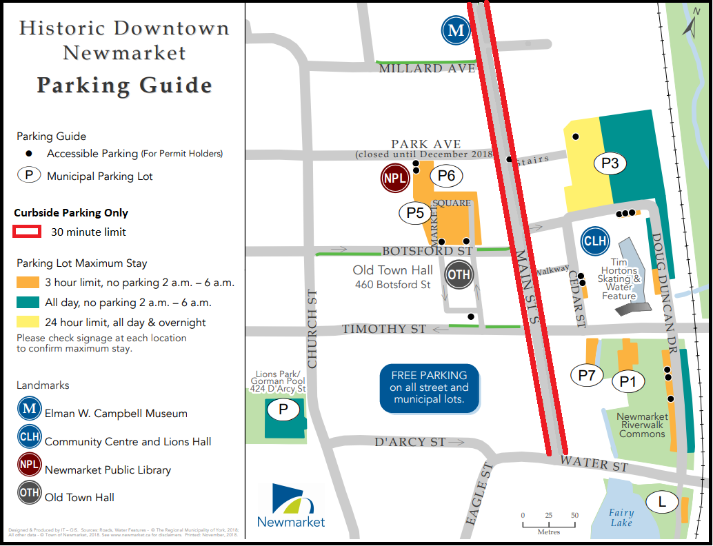 Image of Historic Downtown Newmarket Parking Guide