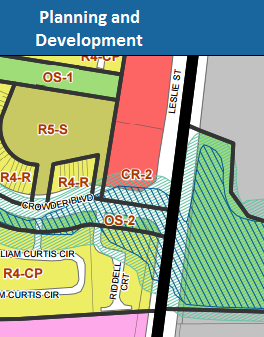 A cut-out picture from the Zoning By-Law.