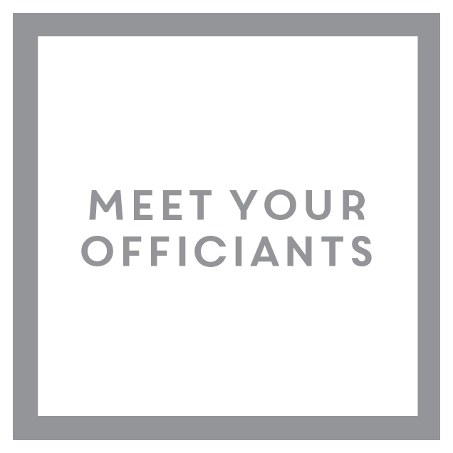 Button that will take you to the 'Meet Your Officiants' Webpage
