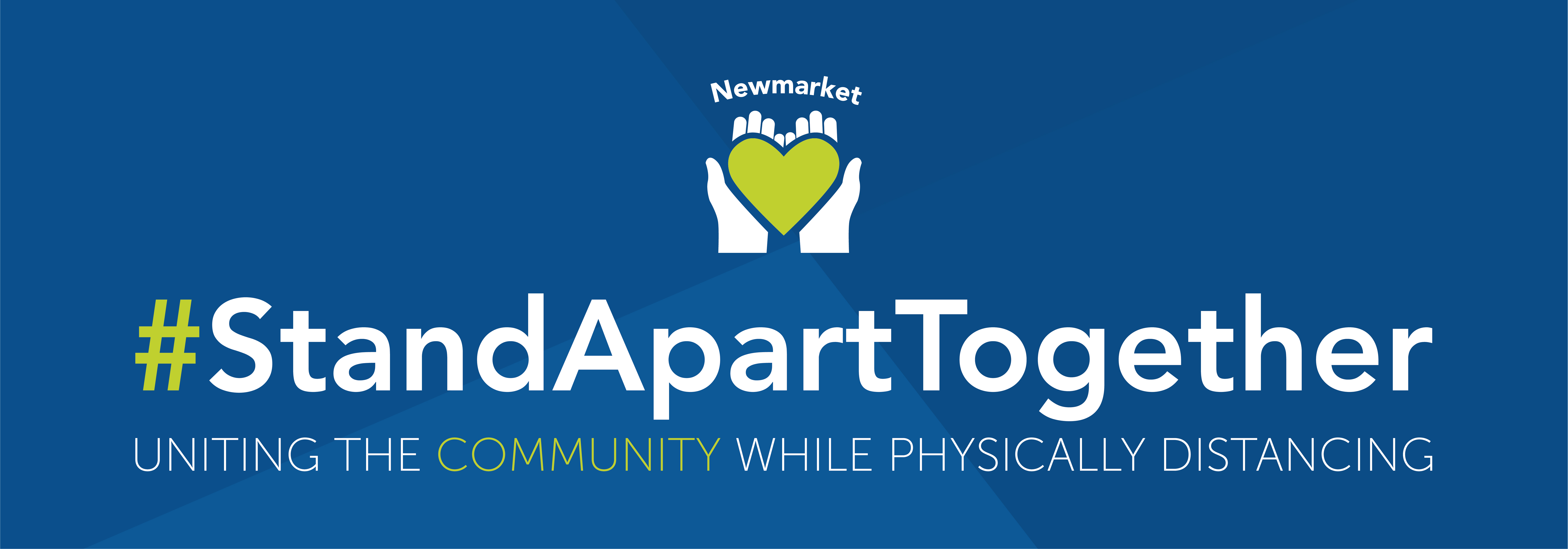 Website banner for Stand Apart Together campaign