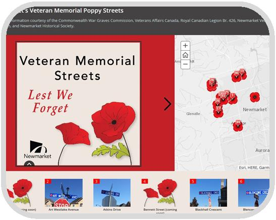 Link for Veteran Memorial Streets Story Map