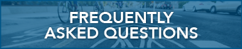 webpage button that reads frequently asked questions for bike lanes