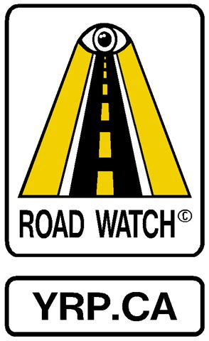 image of york region police's road watch program sign