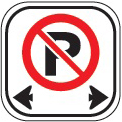 image of a no parking sign