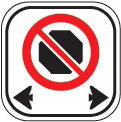 image of a no stopping sign