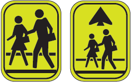 image of school crossing signs