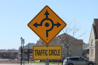 Roundabout / traffic circle
