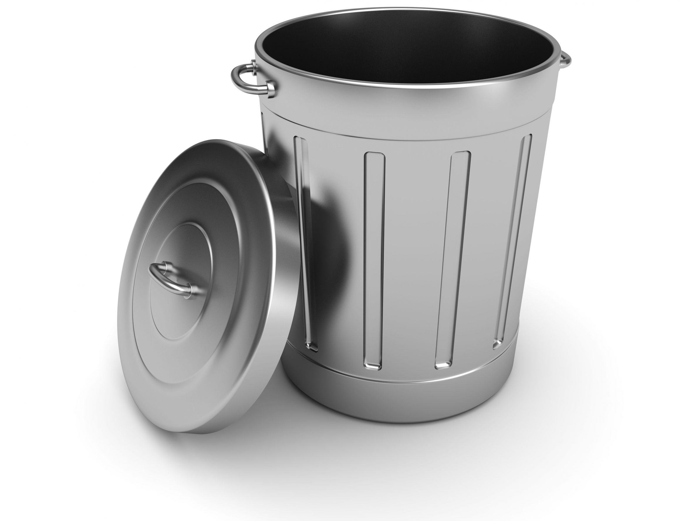 Garbage can with open handles and a secure lid