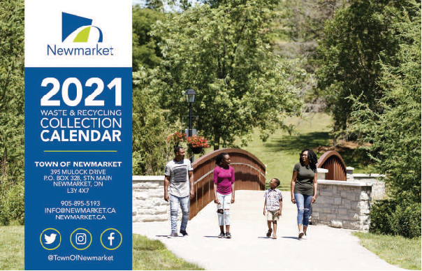 2021 Waste and Recycling Calendar Cover