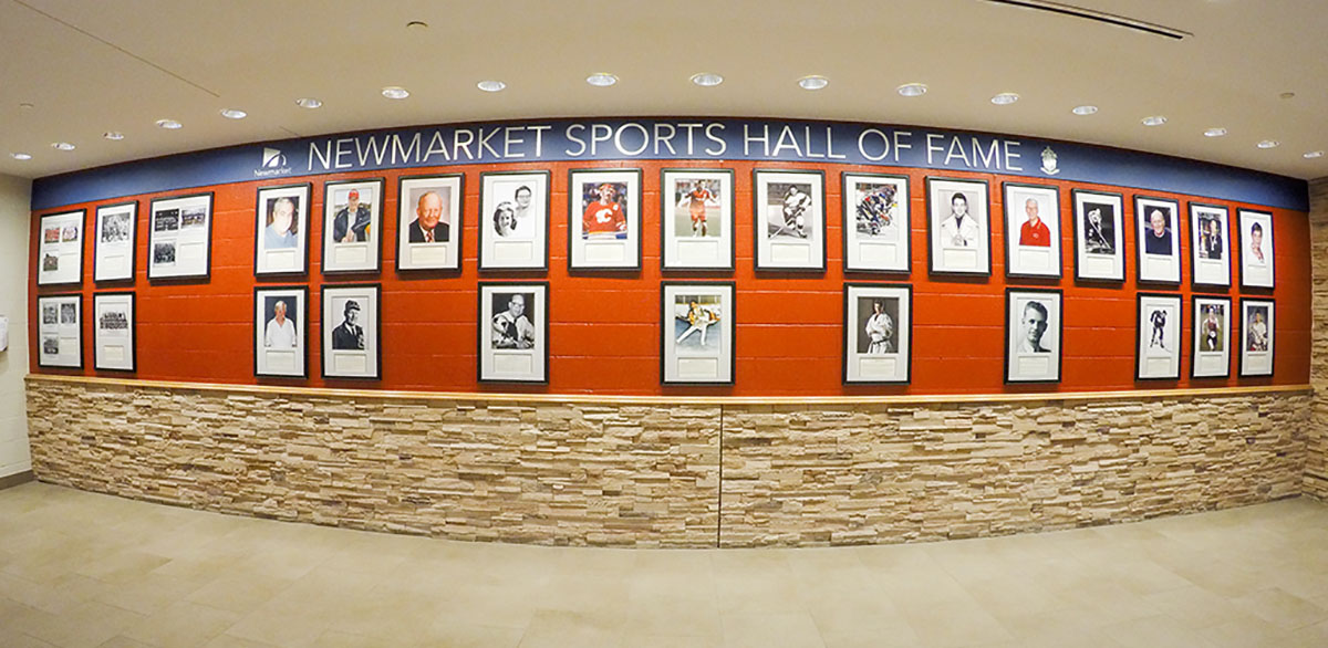 Newmarket Sports Hall of Fame Wall