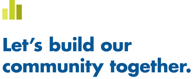 Let's Build Our Community together banner