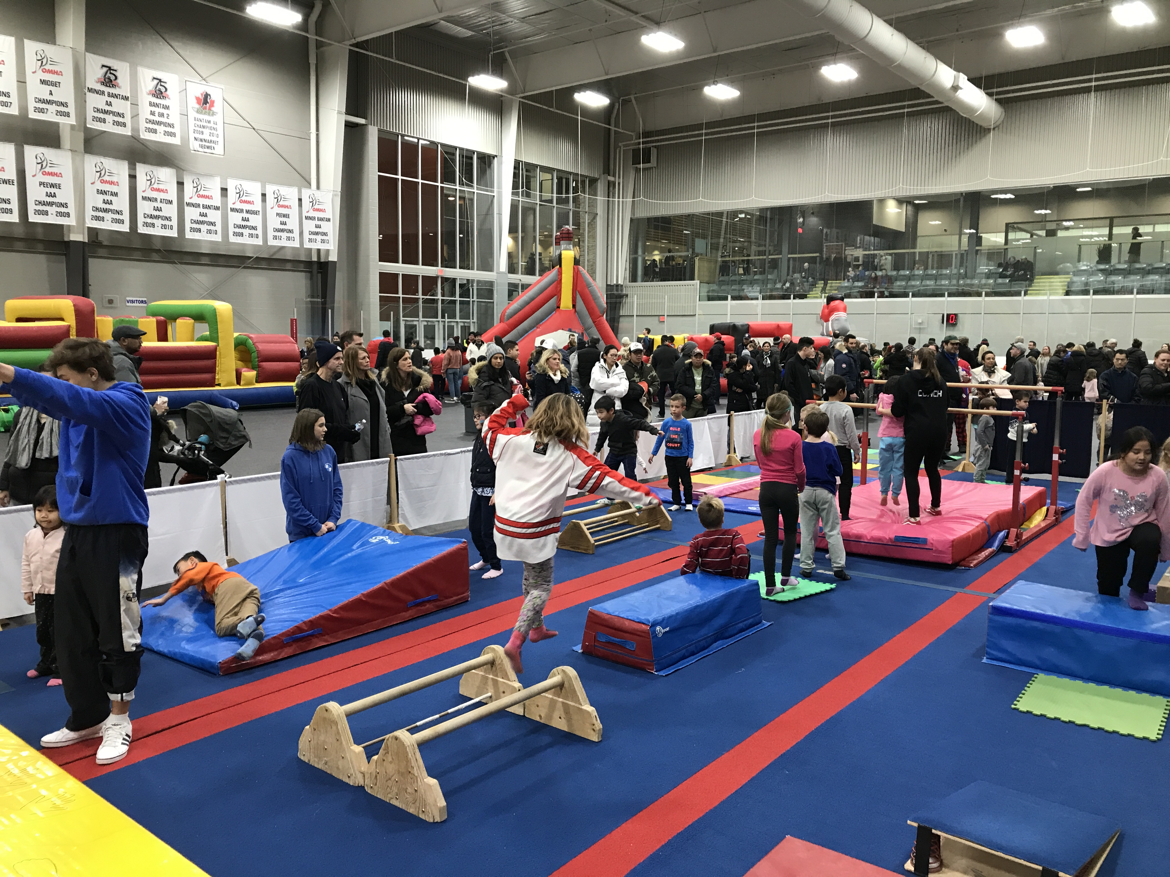 pulsars obstacle course in the magna gym