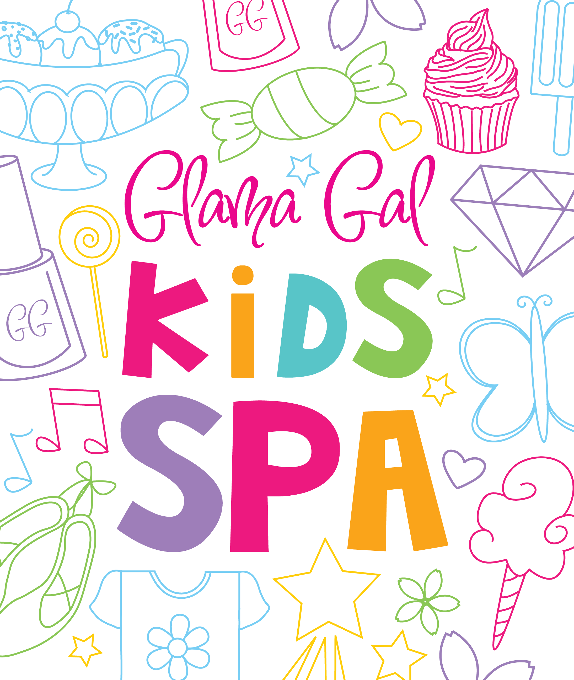 image of Glama Gal Kids Spa Logo