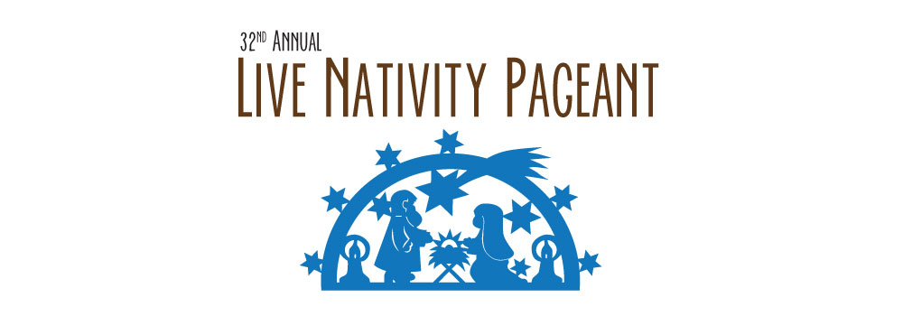 text image that reads 31st Annual Live Nativity Pageant