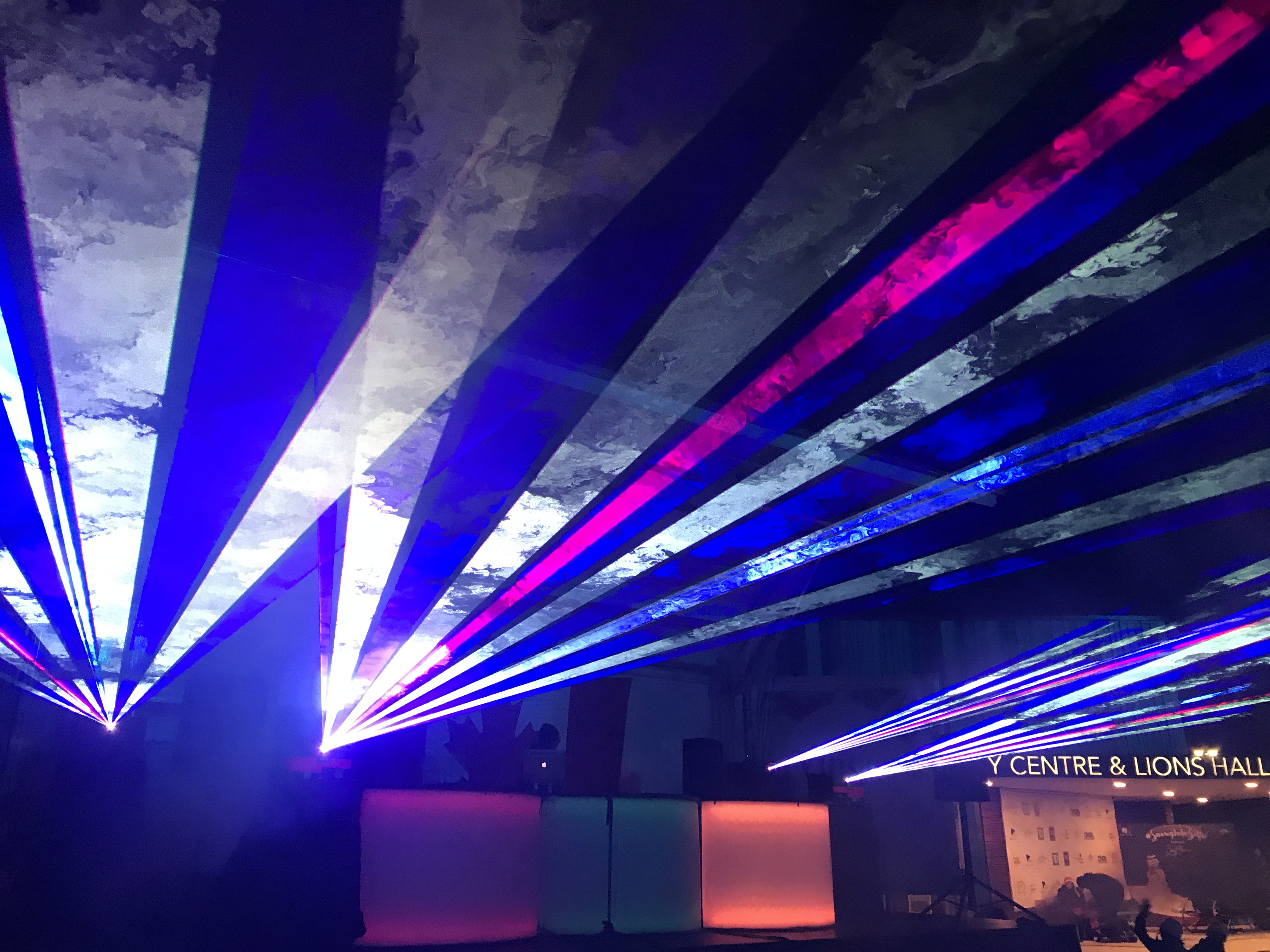 image of the party lights from the 2019 levee
