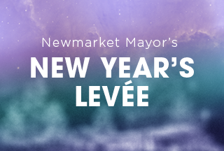 Newmarket Mayor's New Year's Levée Button