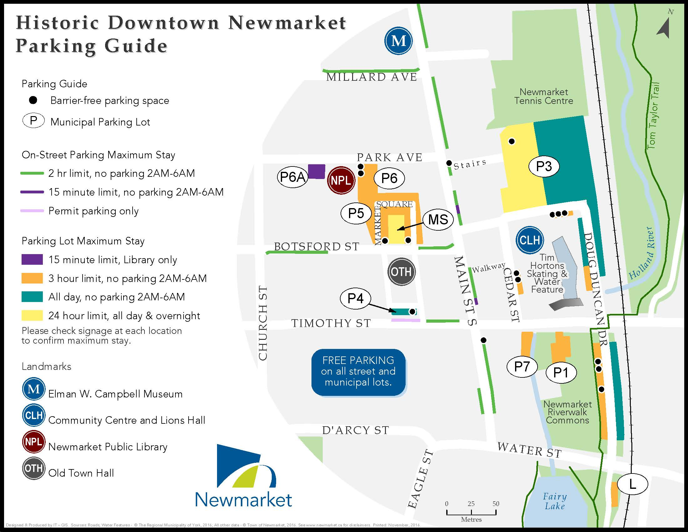 historic downtown newmarket parking guide