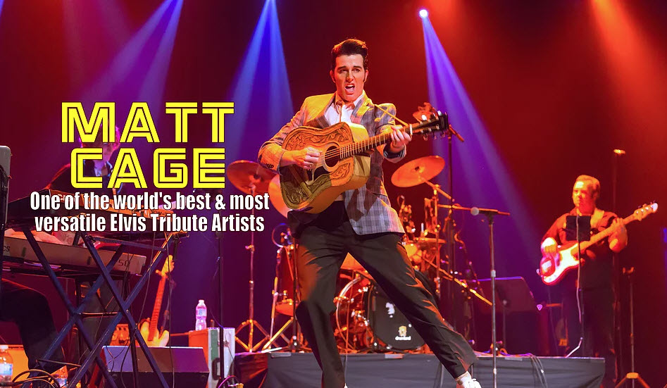 image of matt cage elvis tribute preforming
