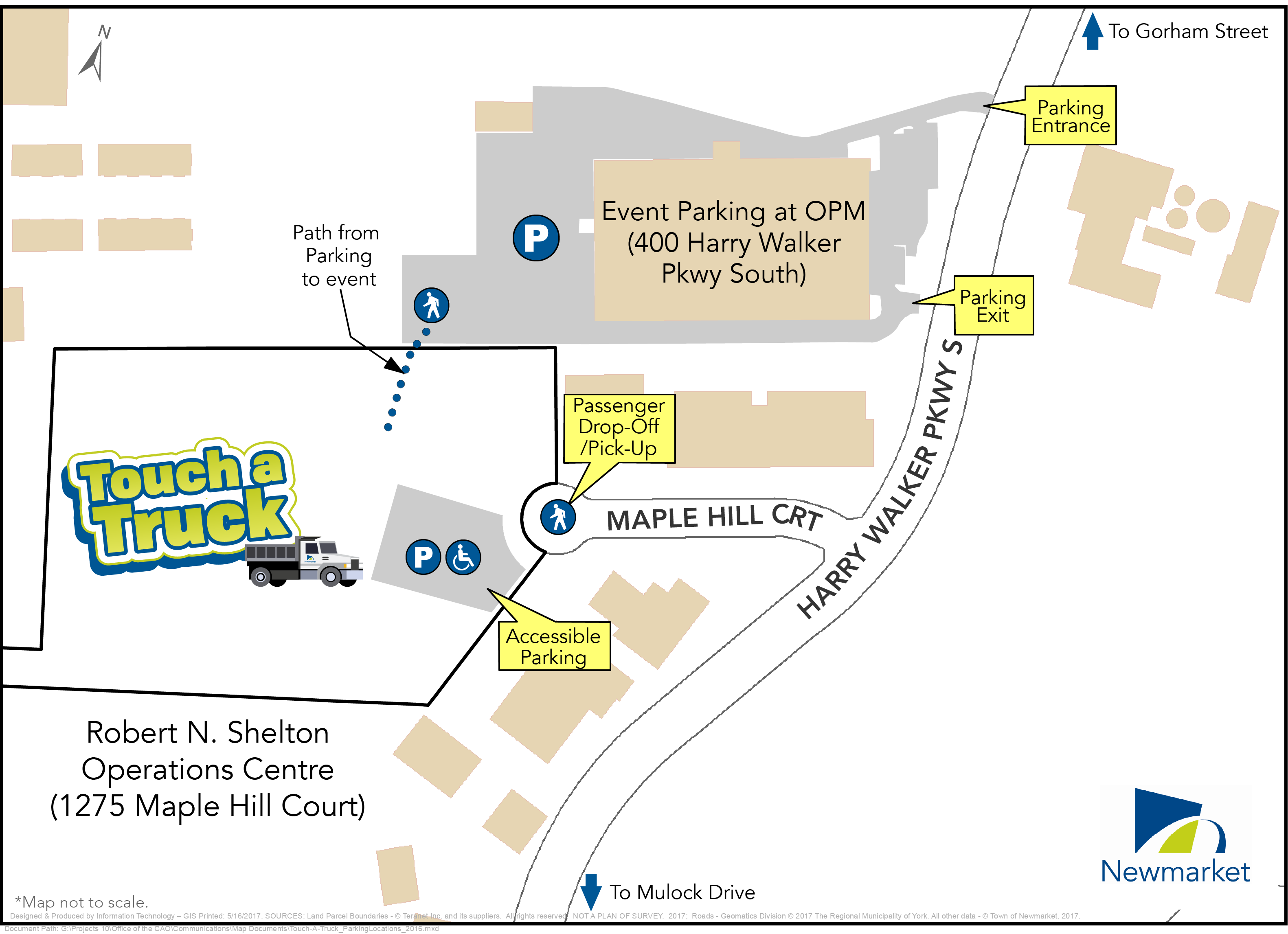 image of Touch a Truck Parking Map
