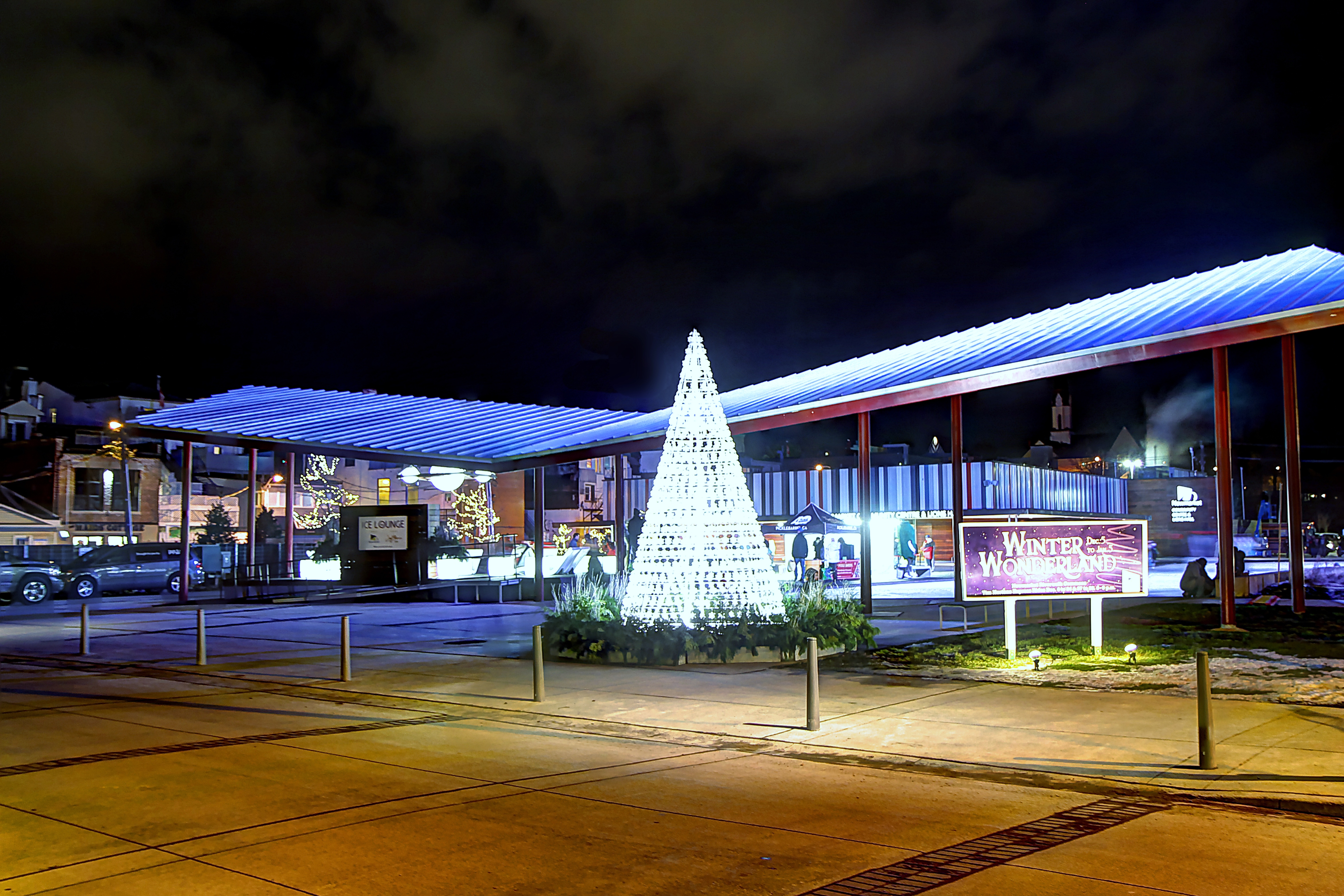 image of icelounge and tree made of lights