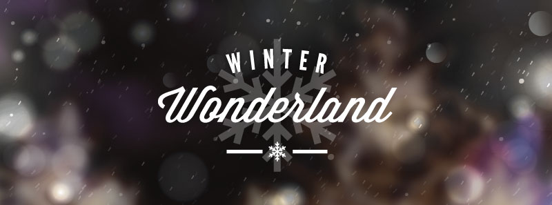 text image that reads winter wonderland