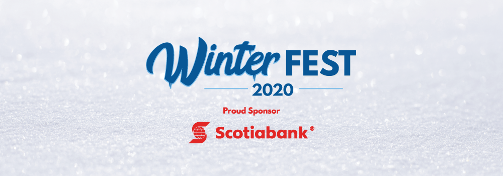 Text image reading winterfest 2019, prod sponsor scotiabank