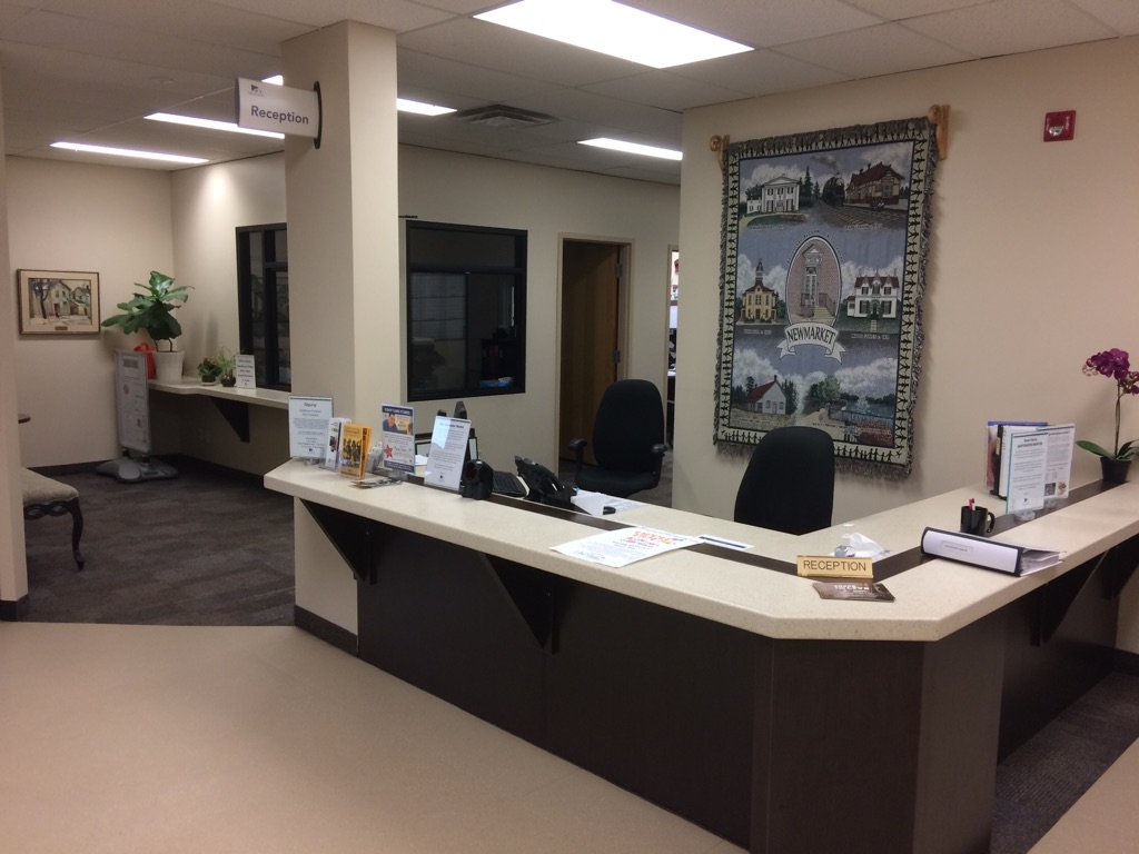 image of the front reception desk