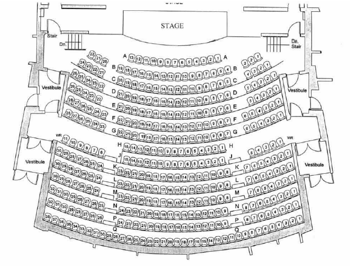 image of the Theatre seating plan
