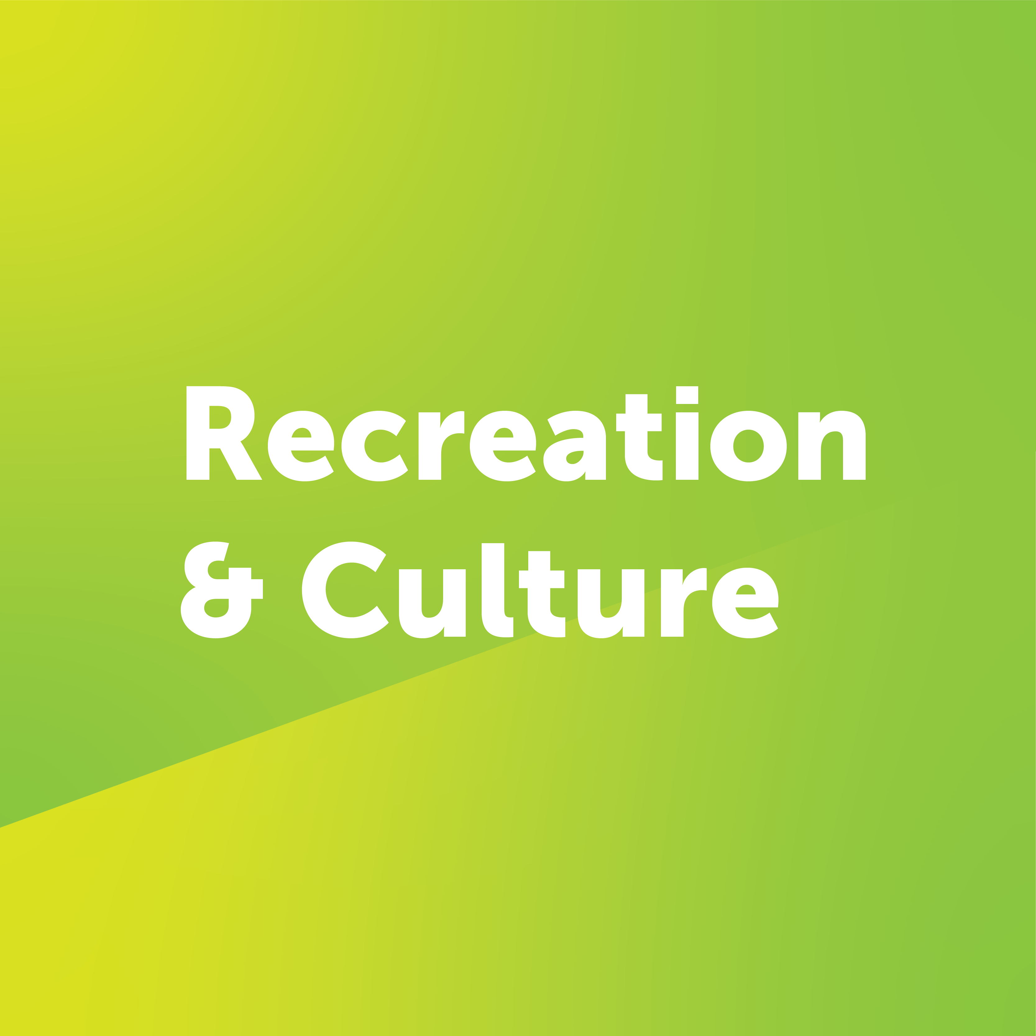 recreation and culture button