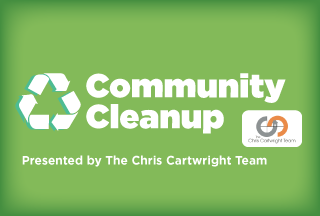 Community Cleanup Presented by The Chris Cartwright Team Button