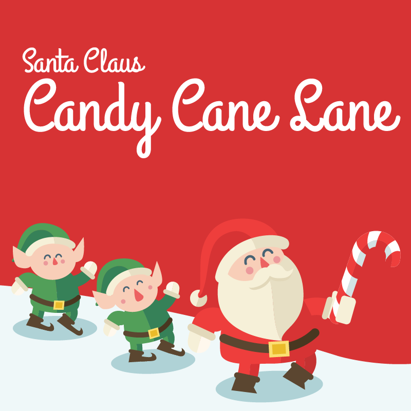 santa claus lane button