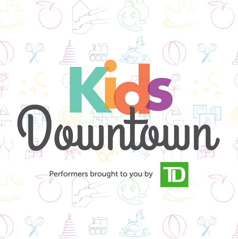 kids downtown button
