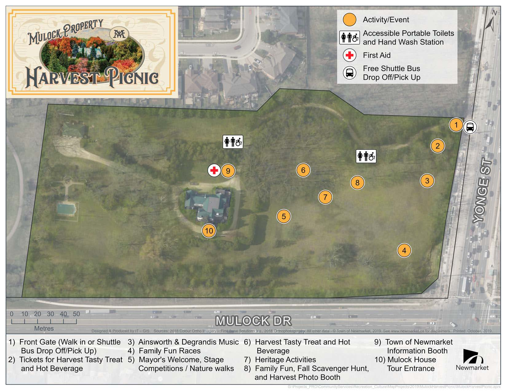 harvest picnic map