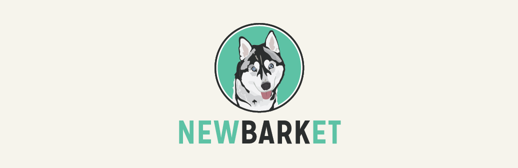 cartoon image of husky with text that reads newmarket