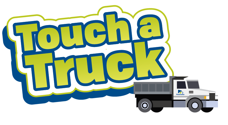 image of truck with text that reads touch a truck
