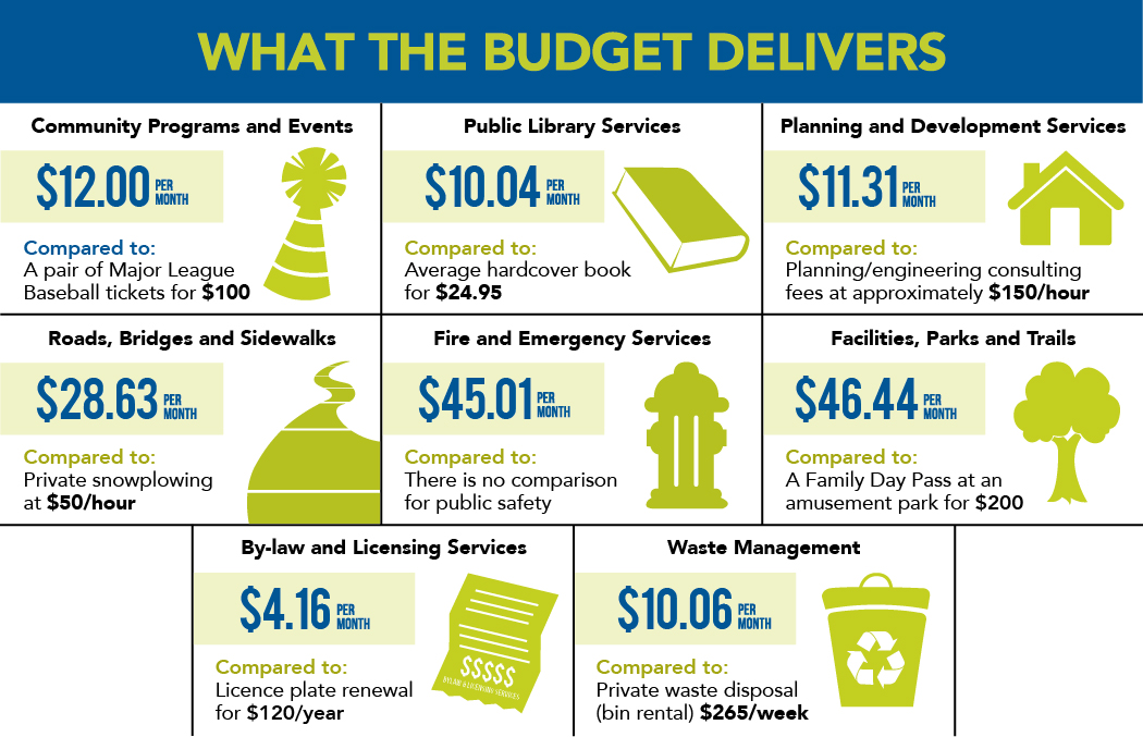 What the Budget Delivers-2019 graphic