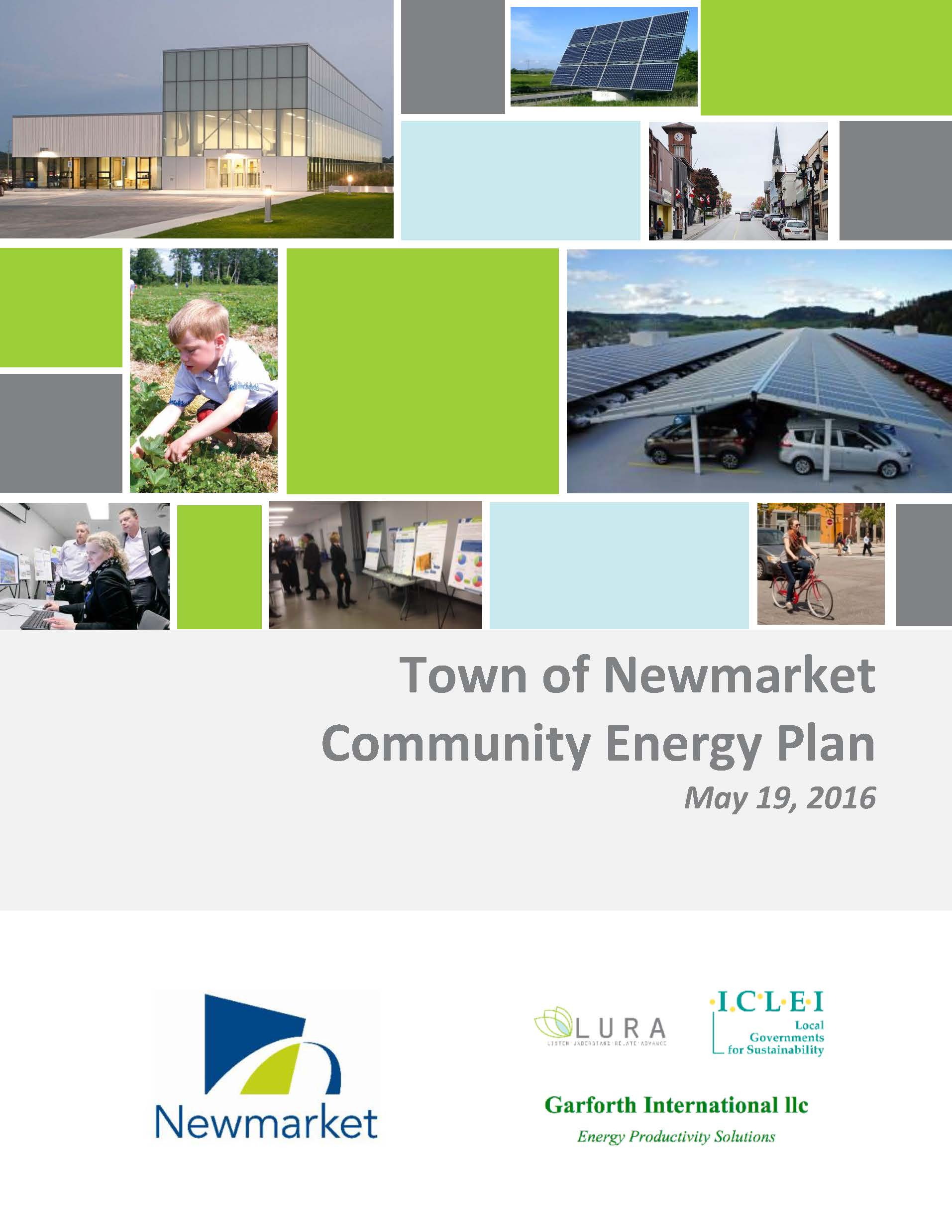 Town of Newmarket Community Energy Plan Cover